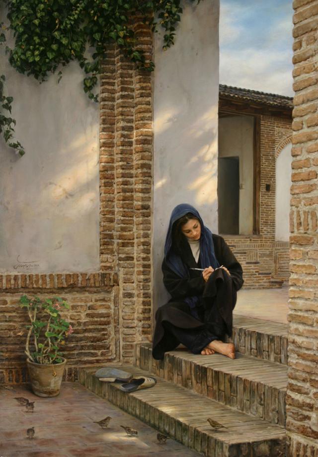 Memory of that house: ২০০১ সালে এঁকেছেন তেলরঙে ক্যানভাসে