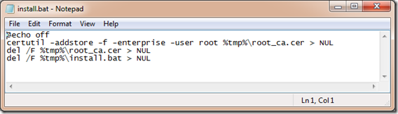 How to distribute root certificates as exe files   Bots!